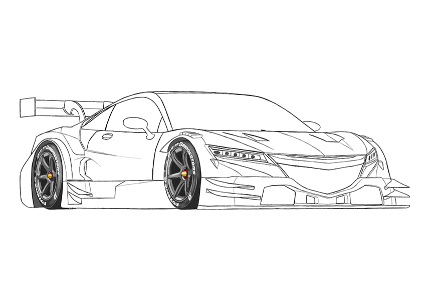 Hypercar Coloring Page Racing Car Coloring Books Cars Coloring Pages Car Coloring Race Car Coloring Pages