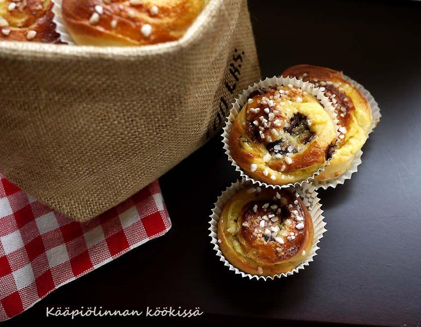 Kääpiölinnan köökissä: Kierrepullia appelsiinirahka-mascarponetäytteellä Hävikkiviikon hengessä