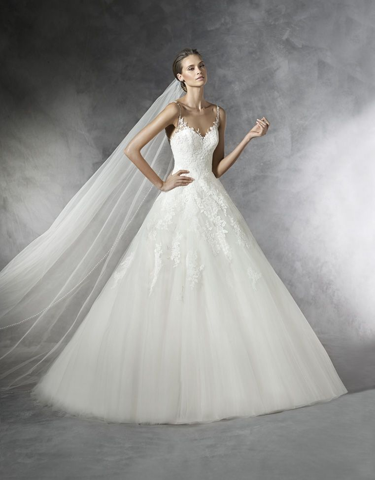 vestido de novia de pronovias (prala), colección pronovias, corte