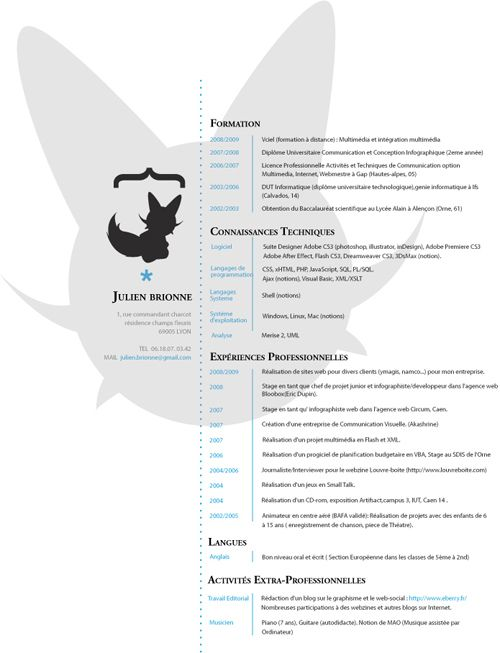 Unique Resumes 40 Stunningly Creative Resume Designs On Deviantart  Not Your .