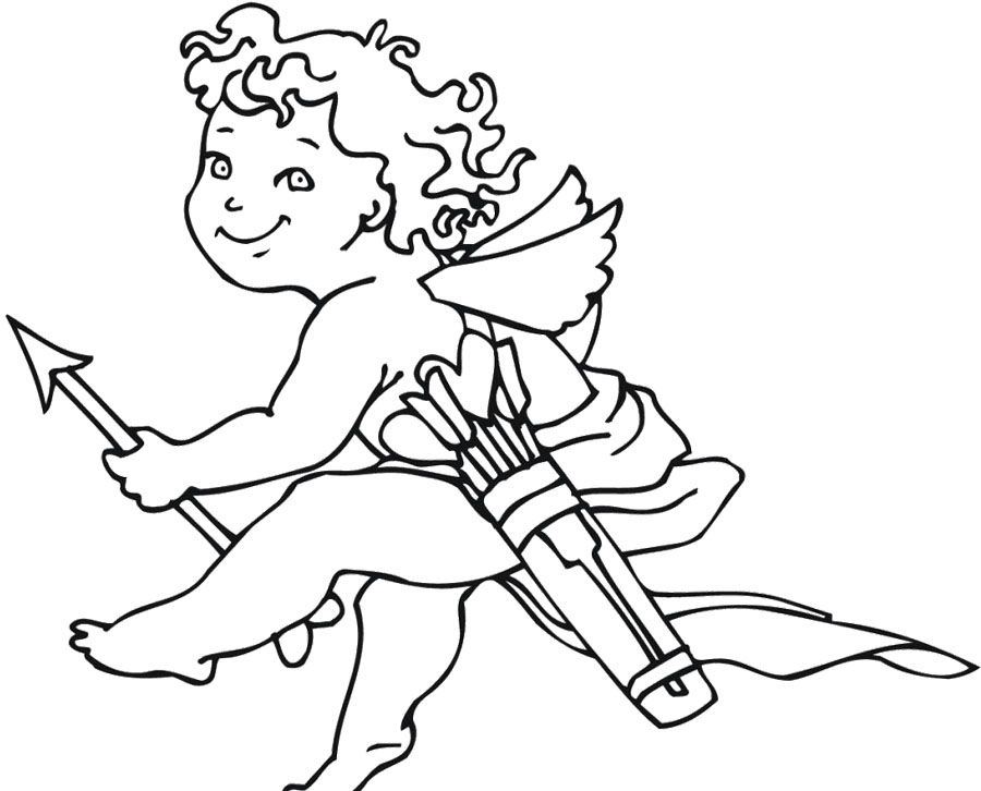 cupid little boy coloring pages - Cupid Coloring Pages