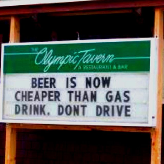 Beer is now cheaper than gas