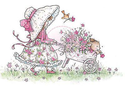 Annabelle Little Girl with Garden Wheelbarrow