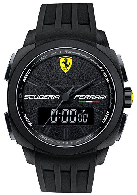 Scuderia Ferrari Aerodinamico Mens Stopwatch Watch 830122