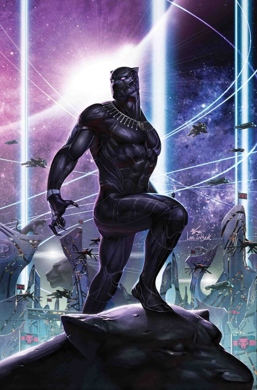 Black Panther 3 (2018) Cover by InHyuk Lee Black