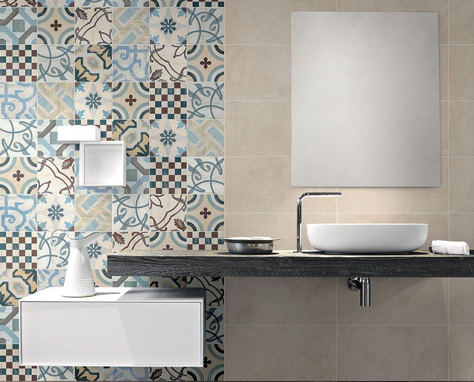 Carrelage de salle de bain aspect carreau ciment Cement 2.0 Colors ...