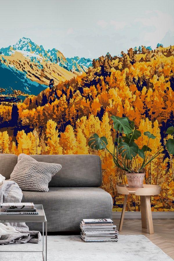 Theo Wall Mural Wall Murals Wallpaper Landscape