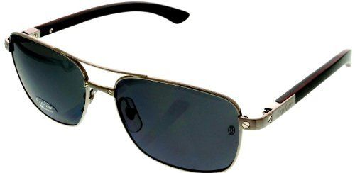 e755c6e3ae595 Cartier Santos Dumont Sunglasses Aviator Polarized Unisex T8200783 Silver  Finish Wood Cartier.  2550.00