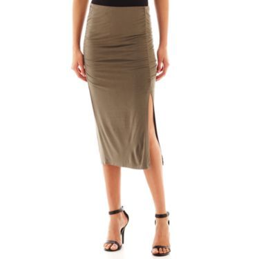 5b300bf98f18fc i jeans by Buffalo Slit Midi Skirt - JCPenney | How to Wear: Pencil ...