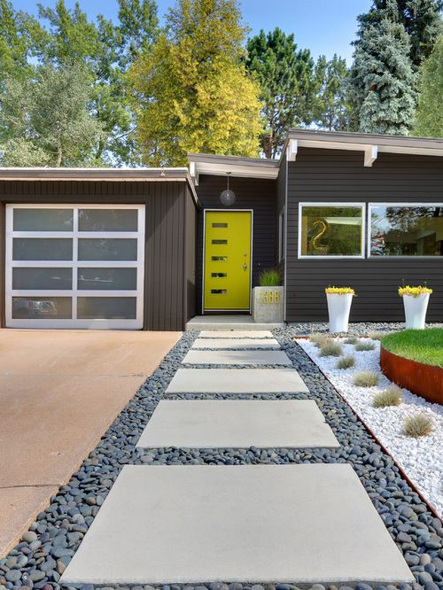 Midcentury exterior design ideas remodels photos my for Mid century modern house colors