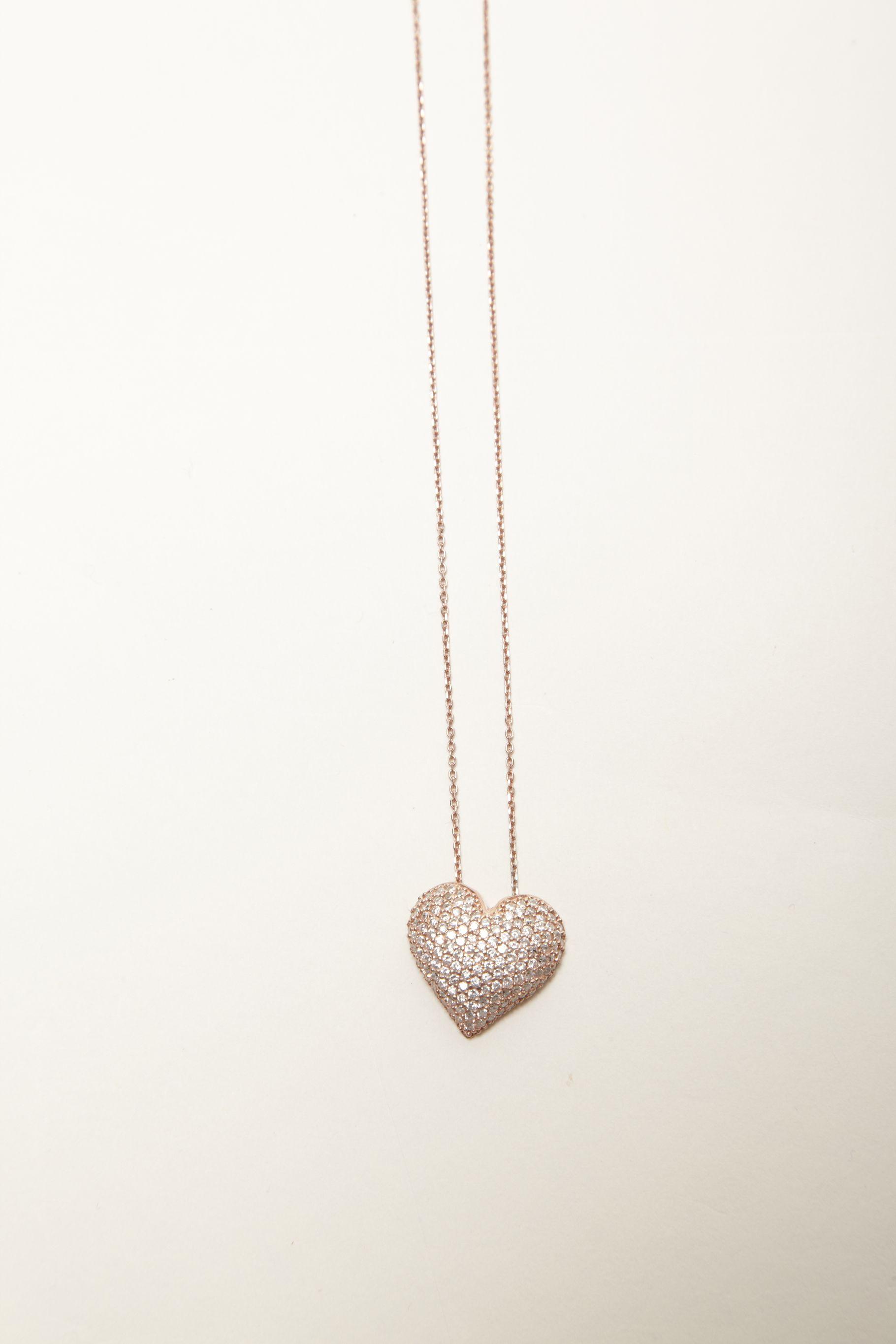Paved Heart Necklace | Lauren Lynne