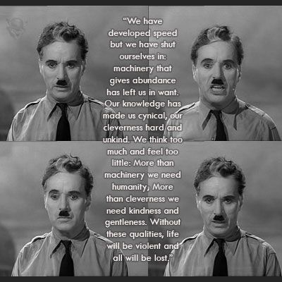 charlie chaplin speech words
