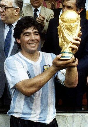 "Maradona ... campeones del '86 !!!... ... ... ... ""With Love, The Argentina Family~ Memories of Tango and Kugel; Mate with Knishes"" - Maradona when he was a good guy and a fabulous player."