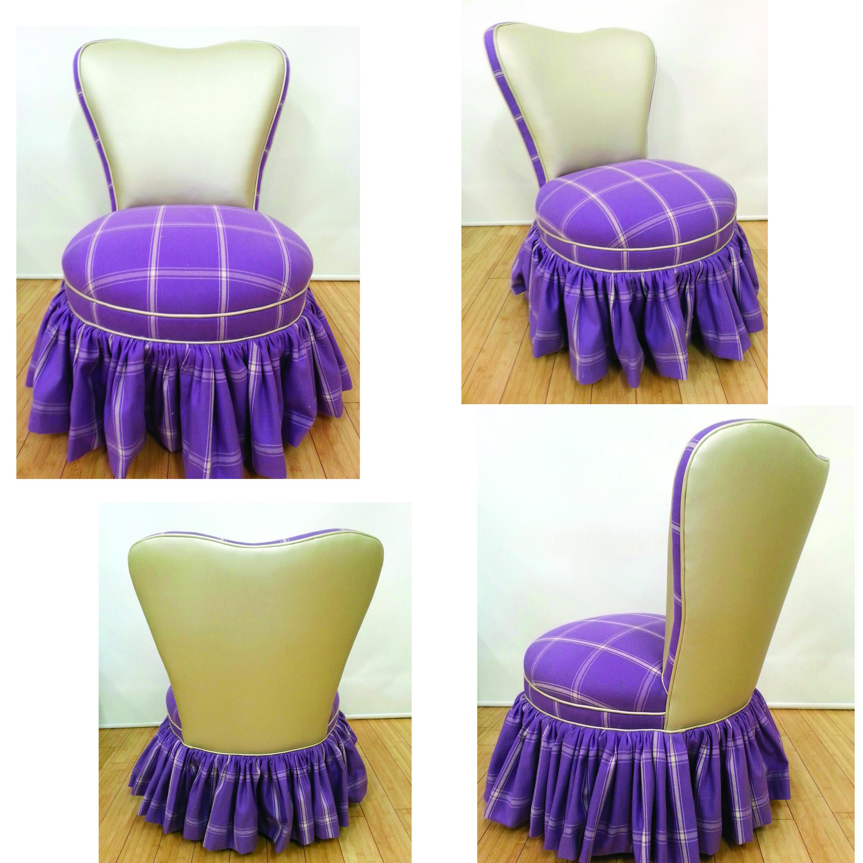 Appealing Vinyl Vanity Chair Photos - Best image 3D home interior ...