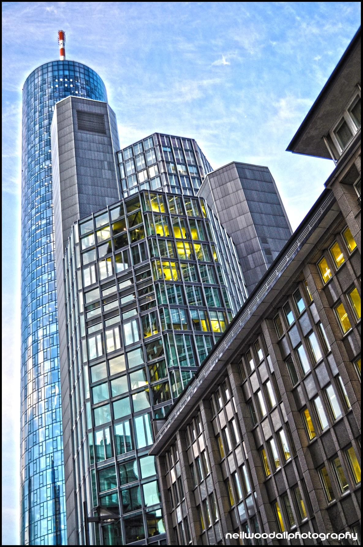 Frankfurt Maine Tower And Office Buildings