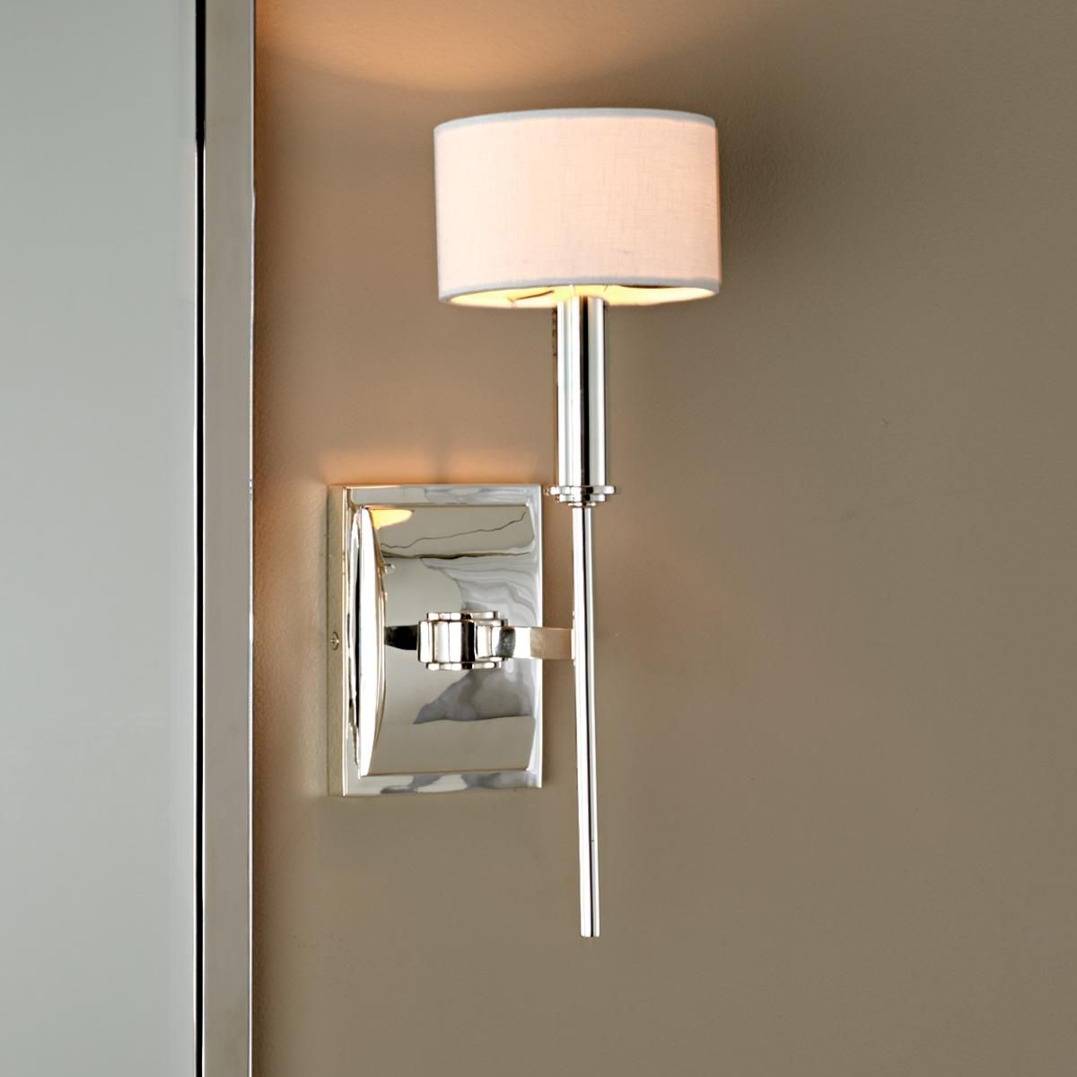 Bathroom wall sconces with shades - Master Bath Sconce Modern Pencil Arm Sconce Two Finishes Modern Wall Sconces Shades Of Light