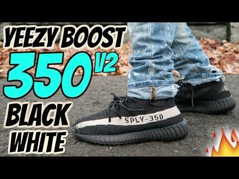 eacdae2e ADIDAS YEEZY BOOST 350 V2 quot;BLACK WHITEquot; REVIEW AND ON-FOOT ...