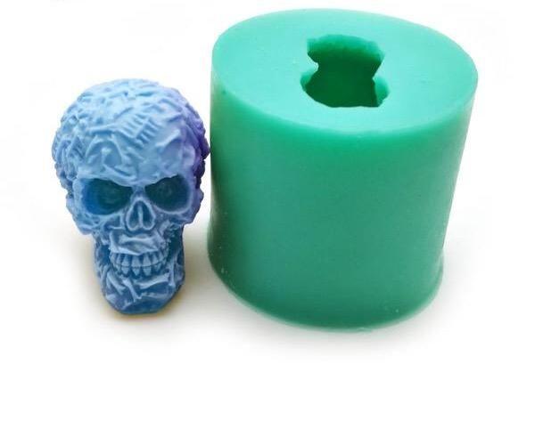 Silicone Skull Mold Jelly Desserts Skull Mold Handmade Soap Molds