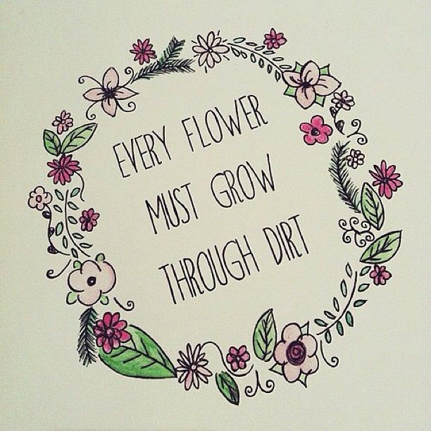 Flower Background Tumblr With Quotes