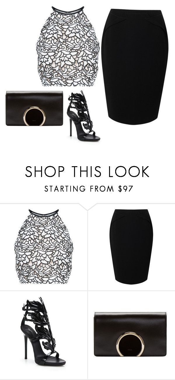 """""""Untitled #631"""" by yurithisandthat ❤ liked on Polyvore featuring Keepsake the Label, Jacques Vert, Giuseppe Zanotti and Chloé"""