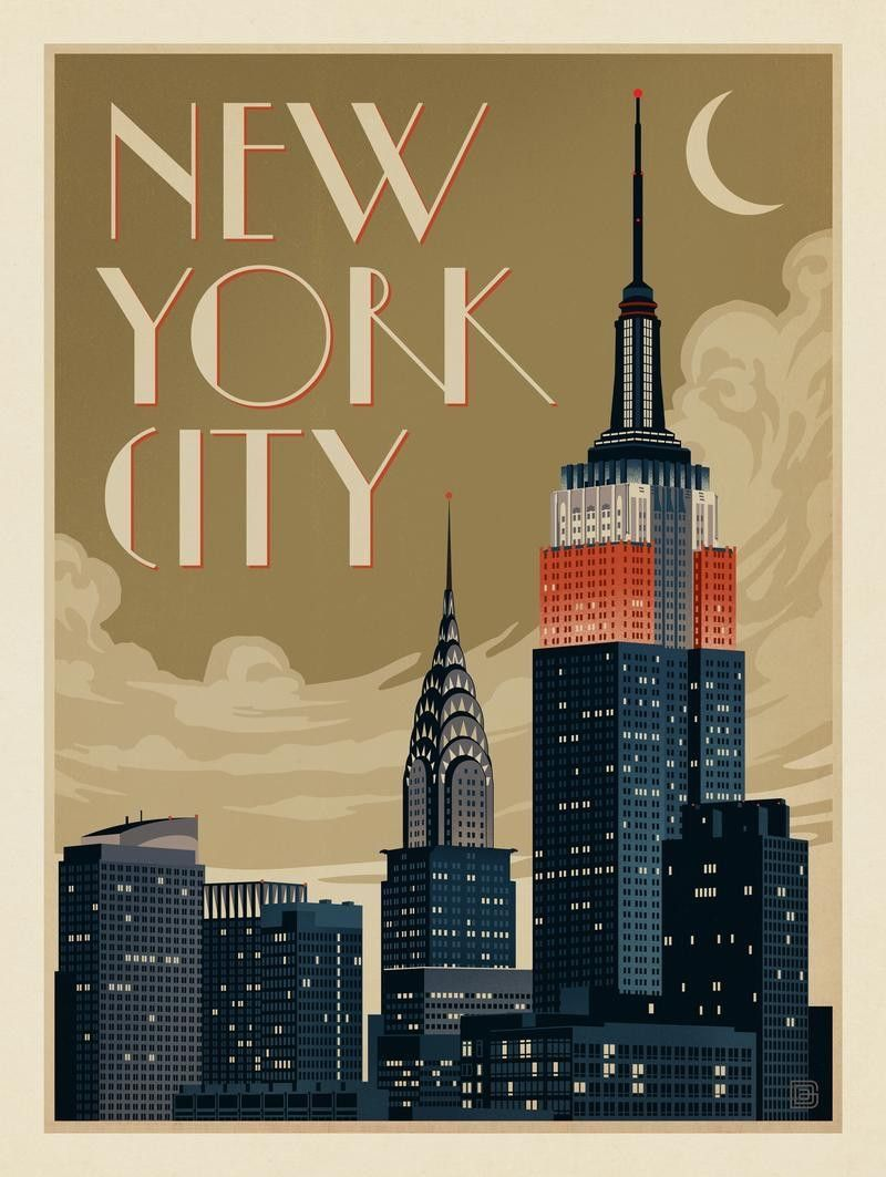 New York City | New york poster, Vintage travel posters