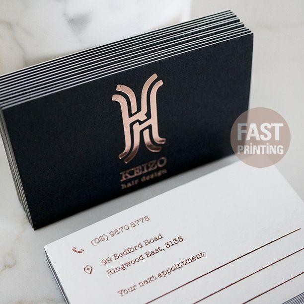 Foil business card business cards pinterest business cards foil business card colourmoves Choice Image