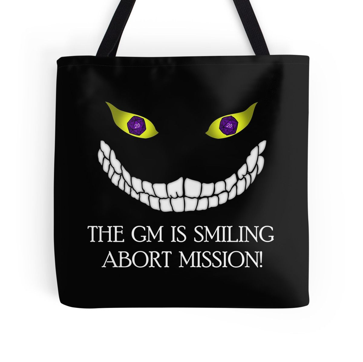 The GM Is Smiling tote bag by GrimDork. Nerd, game, rpg, tabletop