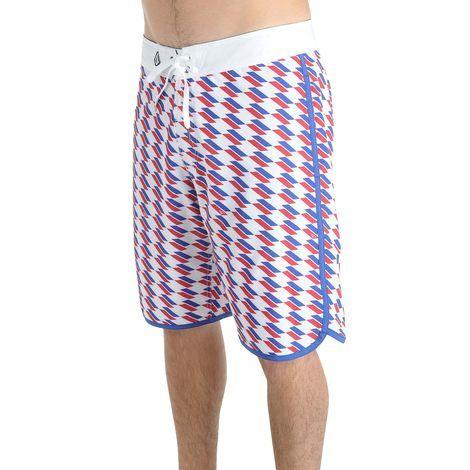 Men S V4s Scallop Boardshorts American Flag Boardshorts