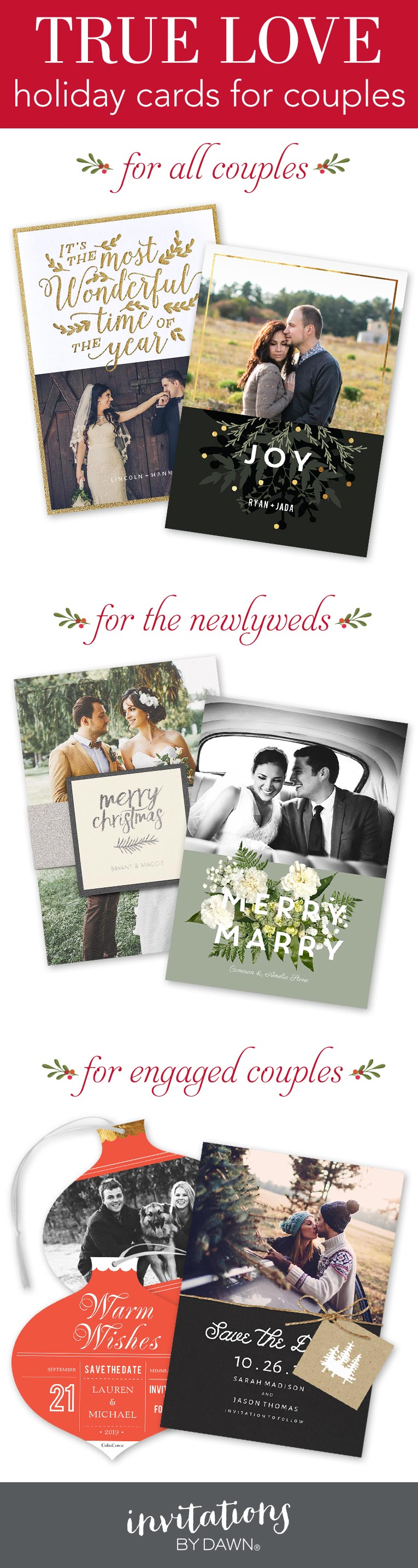The Perfect Holiday Cards For Couples Couples