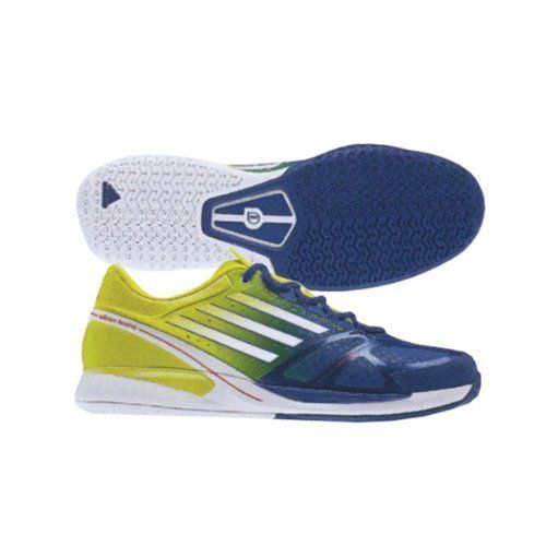 differently bee6d 35e5c Adidas adiZero Feather II Men s Tennis Shoe - Dark Blue White Lab Lime  adidas.  109.99