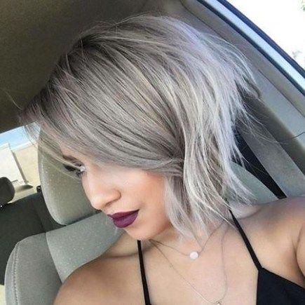 New Cute Hairstyles for Short Hair -   14 hair Grey bob ideas
