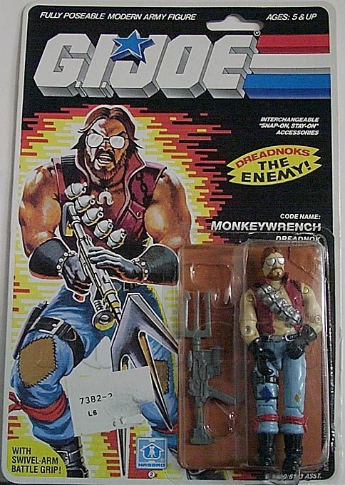 Toy Story Toys Vintage Monkeywrench One Of The Dreadnoks From Hasbro 39;s 1986