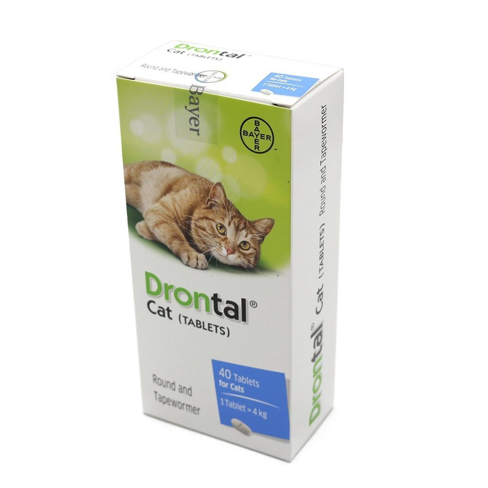 Drontal For Cats Tapeworm Dewormer 8 Tablets Bayer 100 Usa