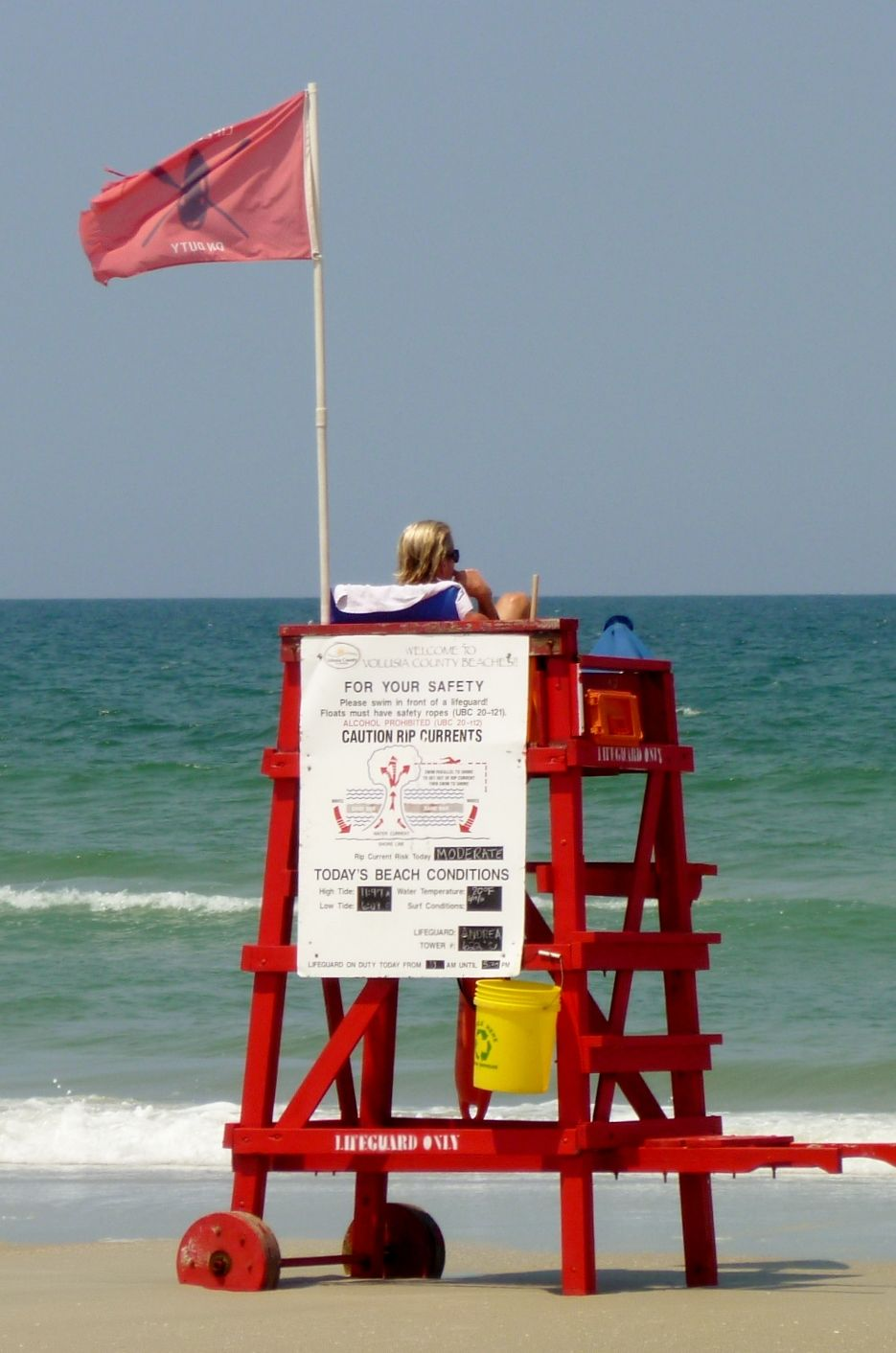 lifeguard chair on New Smyrna Beach...when she was a