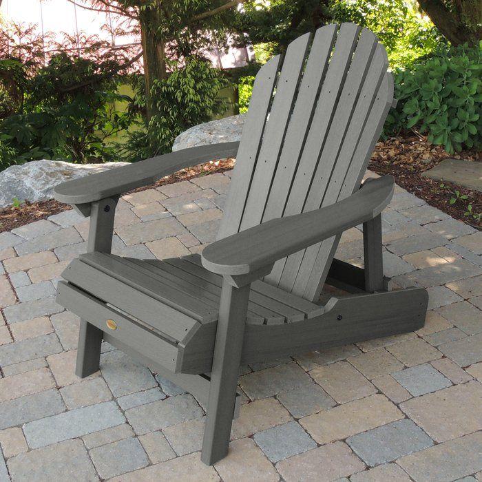 Amiya Plastic Folding Adirondack Chair Adirondack chair