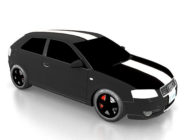 Audi A3 Compact Car 3d Model Car 3d Model Compact Cars Audi A3
