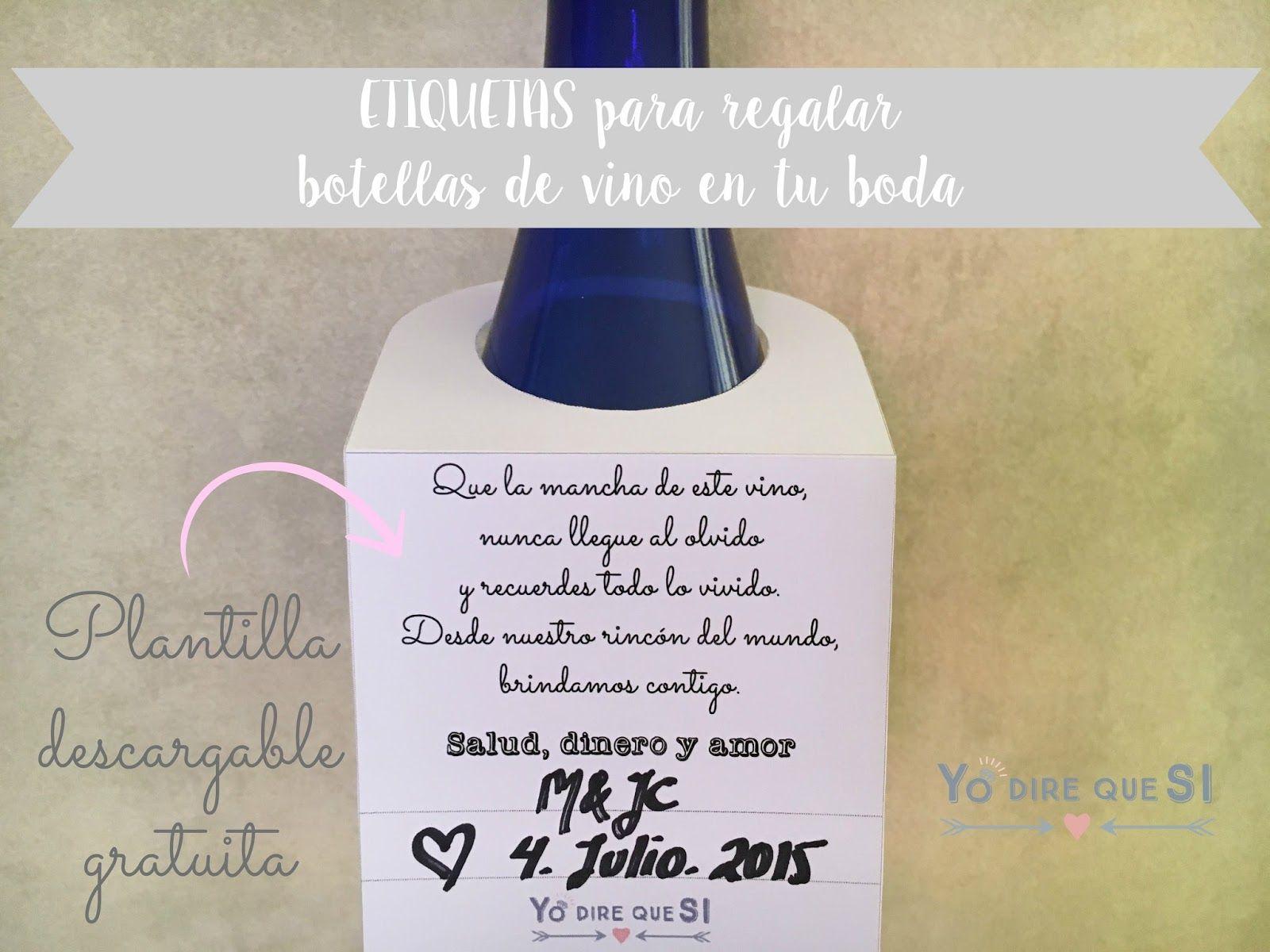 Etiquetas personalizadas para regalar botellas de vino en tu boda ...