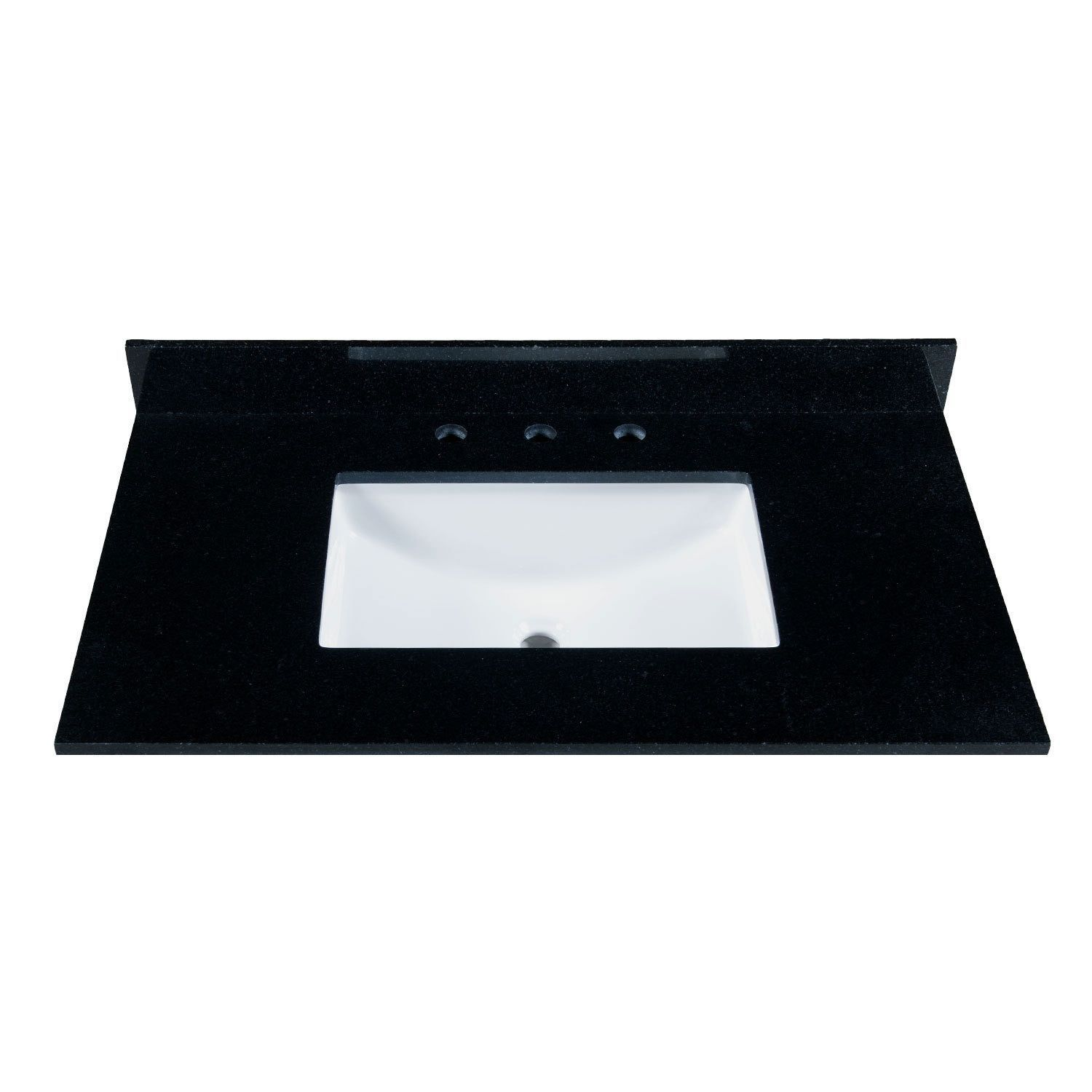 Maykke 37-inch Black Granite Countertop with 8-inch Widespread ...
