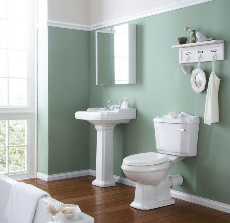 Farbe Salbei Im Interieur Fur Ein Angenehmes Naturliches Ambiente Badezimmerfarbe Badezimmer Grun Badezimmer Farbideen