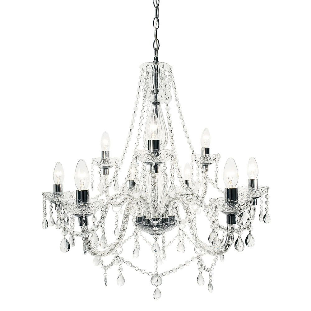 Avignon 9 Light Chandelier Chrome
