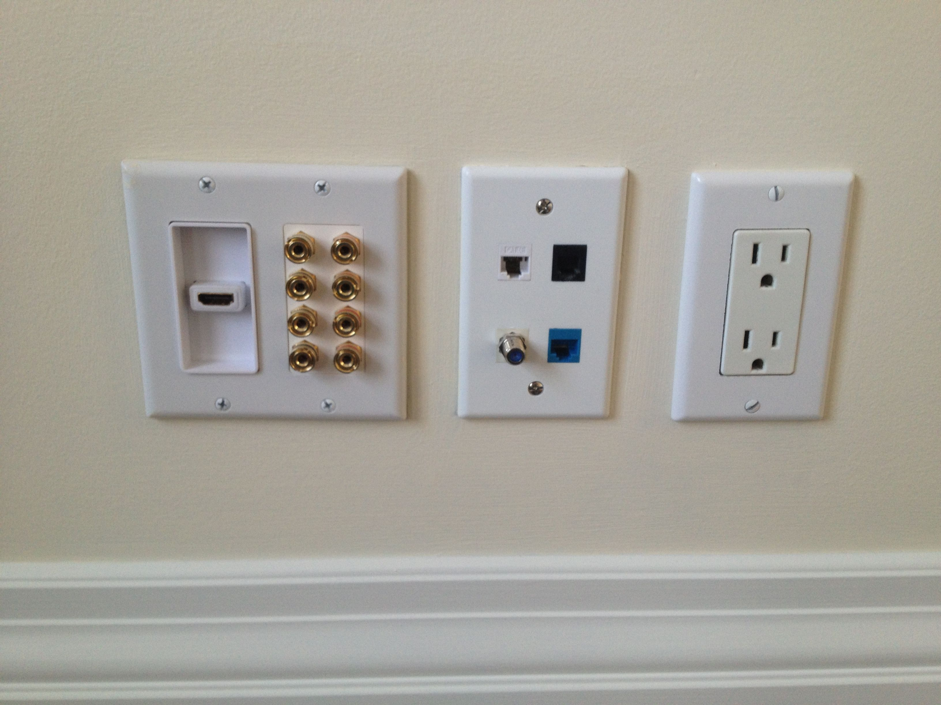 Banana Plug Wall Plate Delectable 1 Hdmi Port Decora Insert With 4 Pairs Of Banana Plug Binding Post Design Decoration