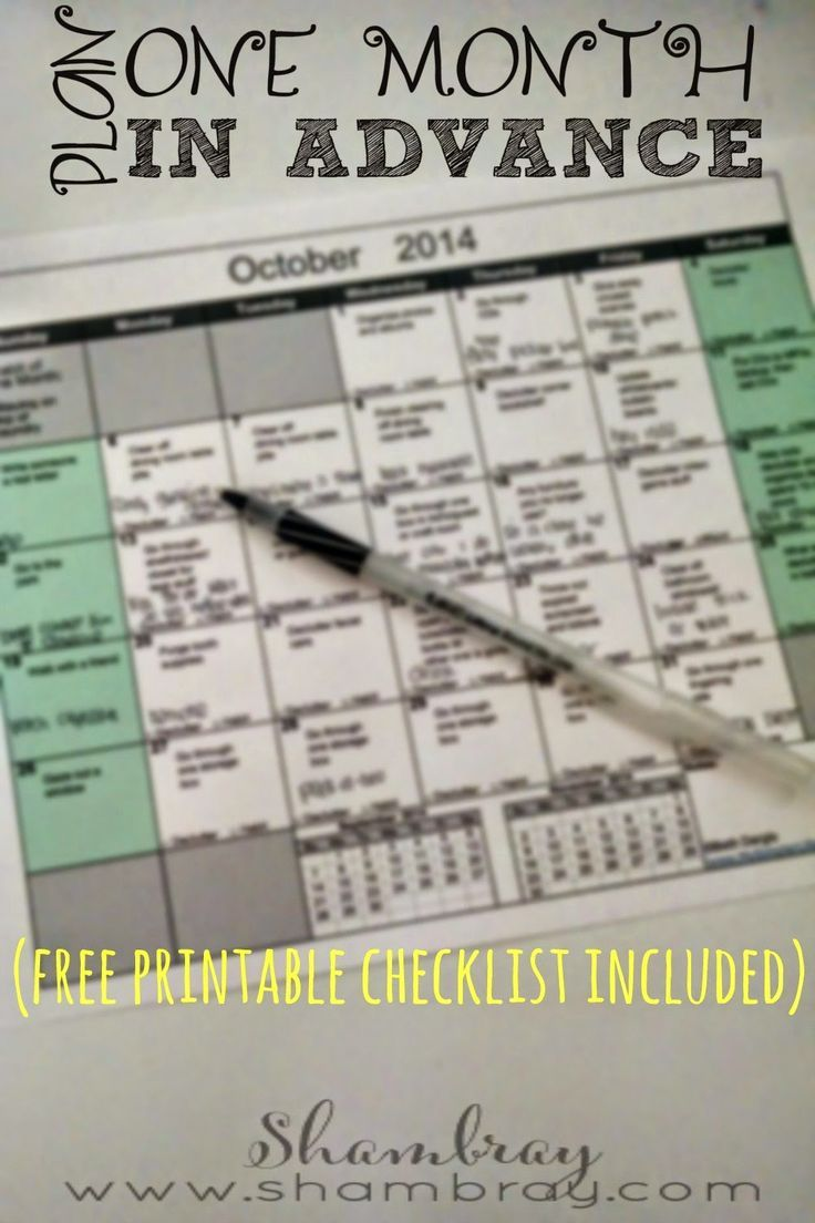 Plan as much as you can one month at a time.  See the difference in how much time you save.