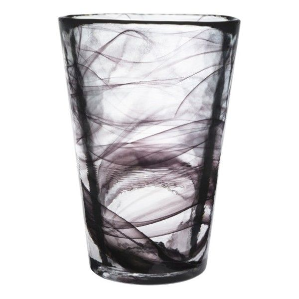 Mine+Vase+Svart,+Kosta+Boda
