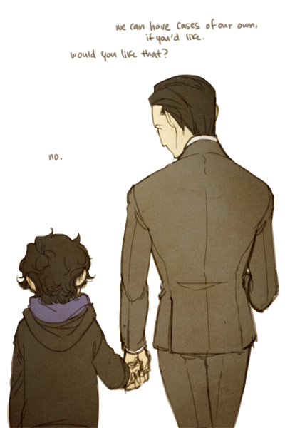 Mycroft and Sherlock. Gahhh so adorable.