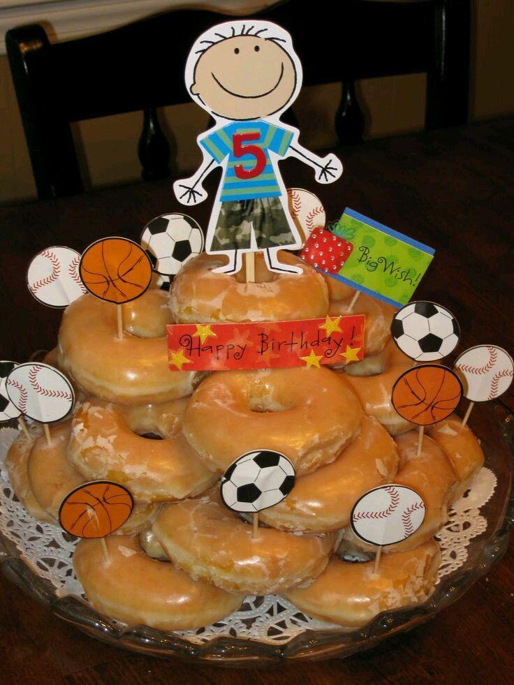 Divertidas ideas con donas para ni os birthdayscookies - Bizcocho cumpleanos para ninos ...