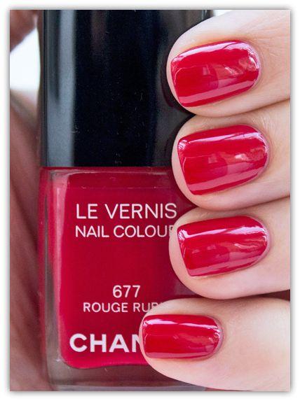 Chanel Nail Polish Rouge Rubis 677 | Red Nail Polishes | Chanel ...