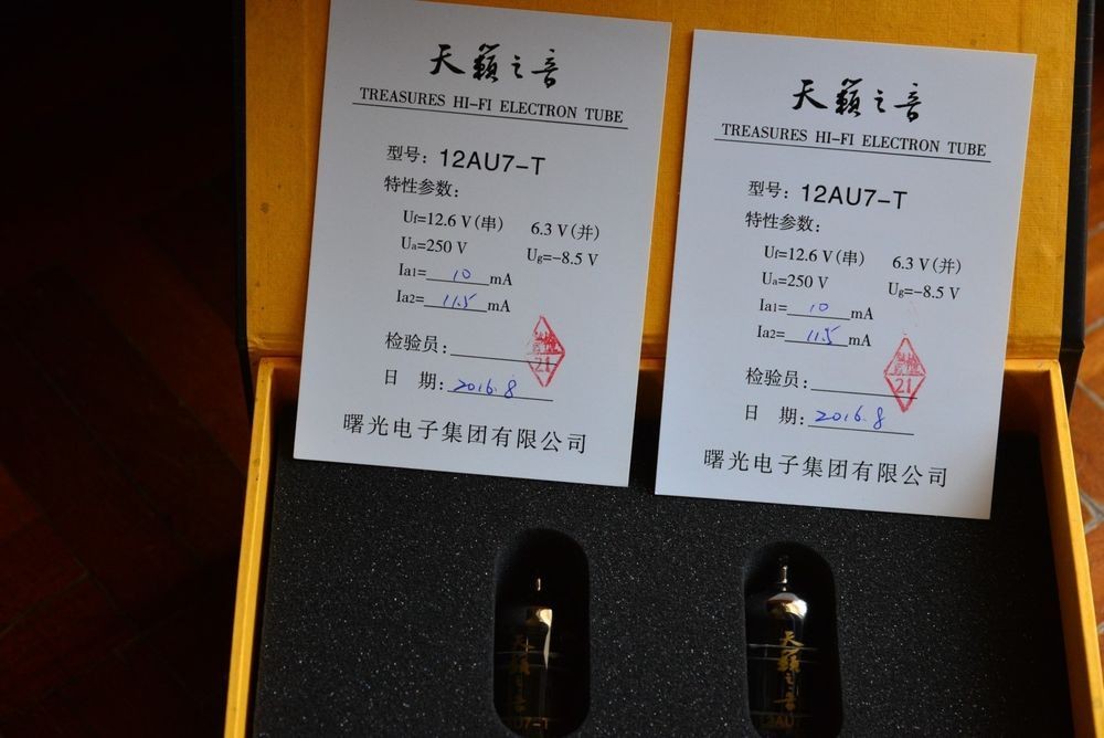 Shuguang Treasure 12au7 T New Matched Pair Shuguang Ebay Vintage Tube