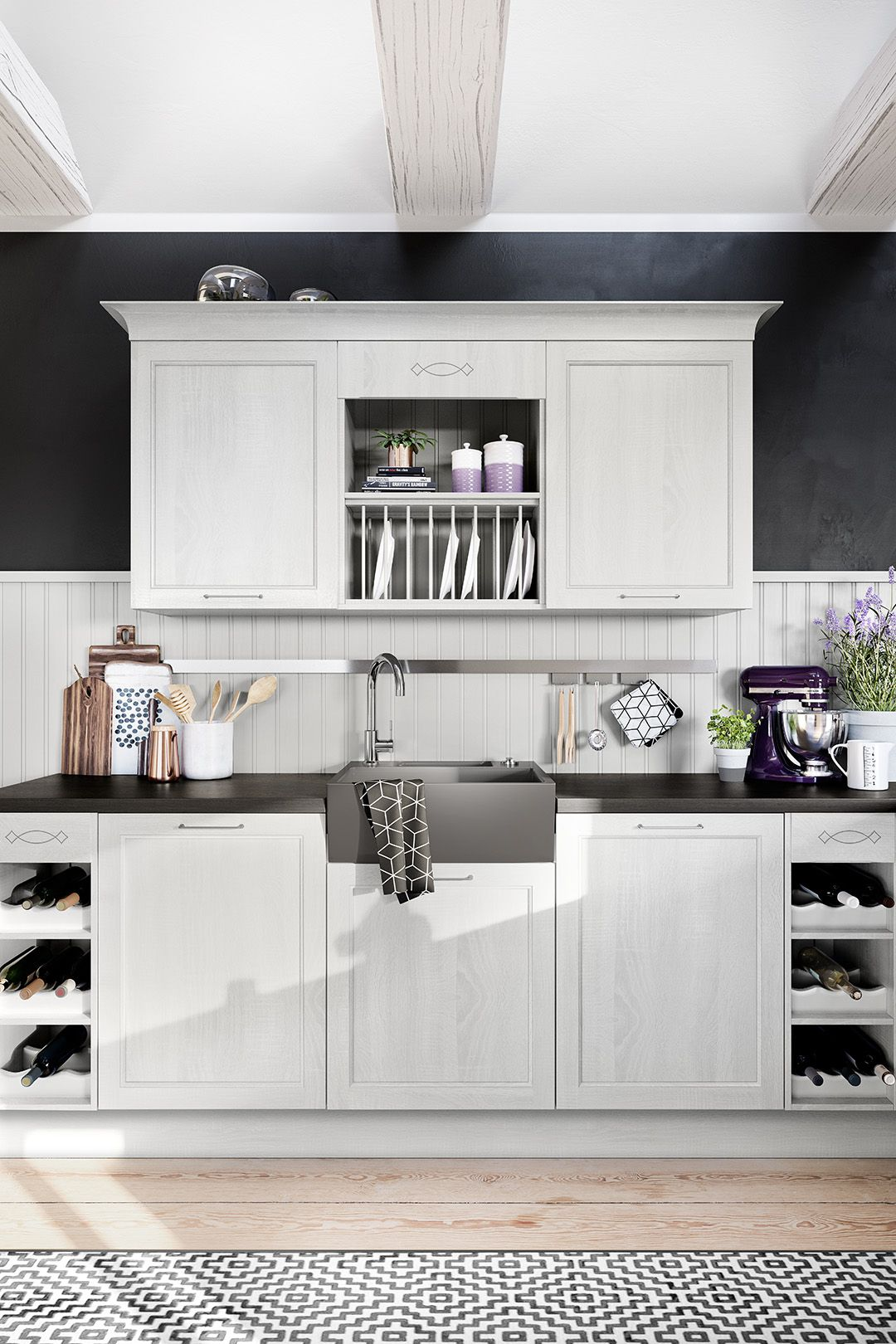 Pin On Hacker Country Classic Kitchens