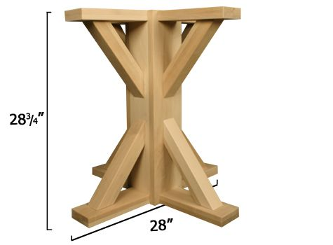 Craftsman Square Pedestal Pedestal Table Base Patio Bar Set