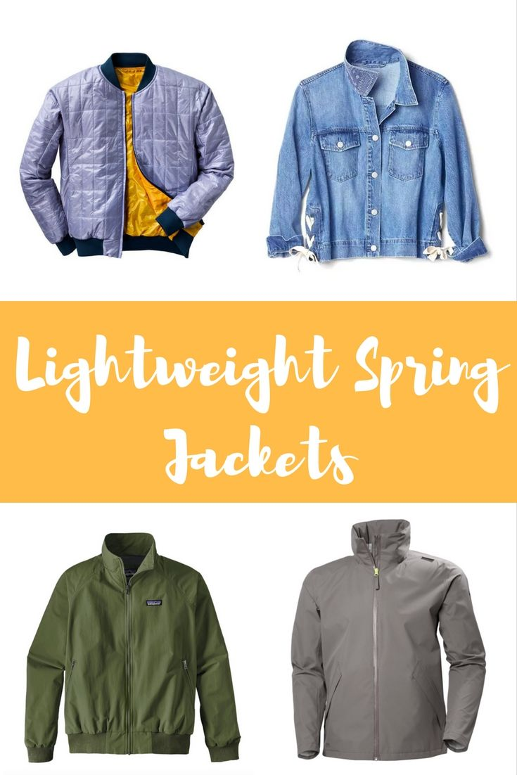 e05beb671 These 10 lightweight spring jackets for men and women will stand up to  spring weather, plus they pack light and look stylish.